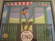 Road Runner The End Framed Signed Chuck Jones Cel Wb Limited Edition Loony Tunes
