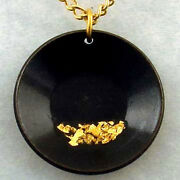 Large Pan Necklace Flakes Of Pure Gold Miner Prospector Dredge Jewelry Pendant