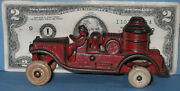 Authentic Old Cast Iron Toy Fire Truck Pumper 4 1/2 And Now On Sale Ci 274