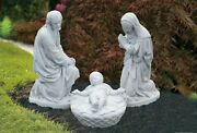 Large Nativity Set 3 Pieces - Mary Joseph And Baby Jesus Outdoor Statues