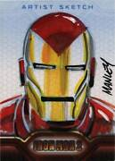 Upper Deck Iron Man 2 Movie Sketch Card By Mike Manley