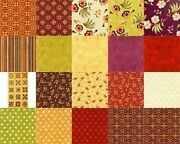 Red Rooster Olivia Quilt Fabric Collection - 20 Pcs