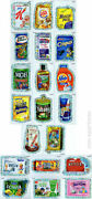 Wacky Packages Series 7 Ans7 Wack-o-mercial Silver Flash Foil Set 20