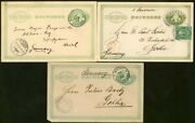 Japan 1890-6, Three Different Stationery Cards/germany