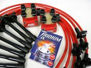 10.2mm Spark Plug Wires Msd Coil Packs Ngk Iridium 96-98 Ford Mustang Cobra Red