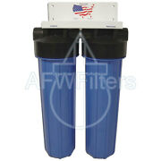 High Flow Big Blue 2-stage Water Filter With Kdf55 For Iron Chlorine And Bacteria