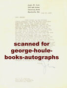 James M. Cain Signed - Letter-   Mildred Pierce For Television1950 -