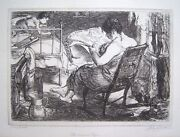 John Sloan Signed 1905 Original Etching - The Womenand039s Page