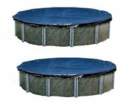 Swimline 24 Foot Round Above Ground Swimming Pool Winter Cover Blue 2