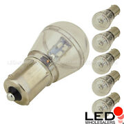 Ba15s Bayonet S8 0.7w Led Bulb With 16xsmd3014 10-30vdc 6-pack Bright White