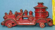 Old Cast Iron 5 Fire Pumper All Original Neat But No Tires On Sale T127