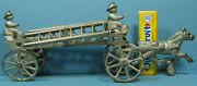 1910 Hook And Ladder Cast Iron Toy Original And Complete 8 3/4 Now On Sale T132