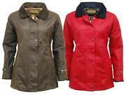 Womens Antique Wax Jacket Fitted Coat Shaped Fit