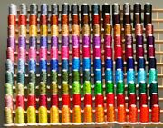 Super 185 Cones Polyester Machine Embroidery Threads + Rack For Baby Lock