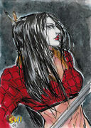 2012 5finity Tucci Shi Sketch Card By Vo Nguyen