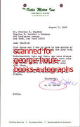 H.c. Potter - Signed Letter - Director- Astaire/ Rogers - Cary Grant/myrna Loy