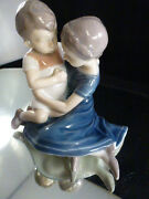 Bing And Grondahl B And G Figurine 1568 Mother And Child Son