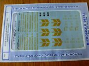 Microscale Decal Ho 87-718 Canadian Wheat Board Freight-hopper - Cylindrical -