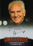2012 Smallville Season 7 To 10 Autograph Card A14 Terence Stamp As Jor-el