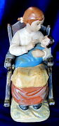 Lladro 12089 Girl In Rocking Chair Bnib Mother Baby Doll Gres Rare 200 Off F/s
