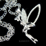 Big Tinkerbell Made With Crystal Fairy Angel Pixie Necklace Jewelry