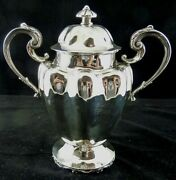 Acanthus Leaf Handled Elegant Small Covered Urn Sterling By Mexico 37 1948-1955