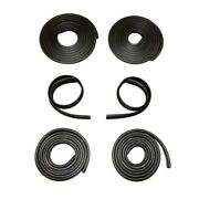 Front Door Weatherstrips Compatible With 1950-1955 Chevy Gmc Panel Pickups