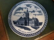 19th Century Porcelain Hartford, Connecticut State Capitol Plate England 7.75