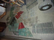 Salvaged Wooden Shutter Slats Great For Art Projects And Painting - W/attached Bar