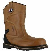 V12 Best Mens Steel Toe Waterproof Safety Rigger Work Boots Sizes 7 To 12