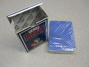 Modiano Plastic Playing Card Deck Poker Index Blue Made In Italy New