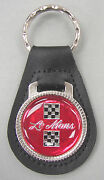 Red Pontiac Le Mans 3239 Leather Key Ring Checkered Flags 1982 1983 1984