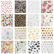 Patterned Print Tissue - Gift Wrapping Paper Luxury Sheets - Acid Free 50x75cm