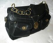 Awesome Coach Legacy Leigh Vintage Black Leather Tote Bag Purse Satchel Wow