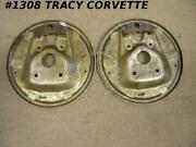 1953-1962 Corvette Backing Plate Pair Gm 3694865 Brake Flange Front Nos Chevy