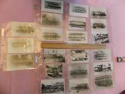 21 1800s-1900s Brooklyn Nyc Trolley Subway Roster Post Card Size Photos