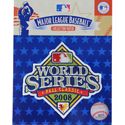 2008 Mlb World Series Logo Jersey Patch Philadelphia Phillies Vs. Tampa Bay Rays