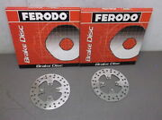 Pair Of Ferodo Front Brake Rotors For 2001-2002 Bombardier Dsx 650cc - New