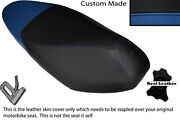 Royal Blue And Black Custom Fits Honda Nsc 110 Wh Vision Dual Leather Seat Cover