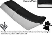 Black And White Custom Fits Yamaha Yz 250 Evo 86-87 Dual Leather Seat Cover
