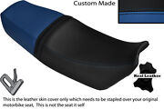 Black And Royal Blue Custom Fits Honda Vtz 250 Mc15 Dual Leather Seat Cover Only