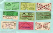 D63. 30 1980s Nsw Railway Tickets Mostly Newcastle Area
