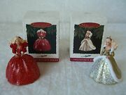Hallmark Barbie Keepsake Ornaments One Pair 1993 And 1994 New In Boxes