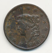 1818 Matron / Coronet Large Cent Uncirculated Copper Penny