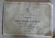 Big Vintage 1952 Book Us Army Engineers Charts Of New York Canals Look