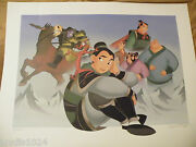 Cast Exclusive Lithograph Numbered Hand Signed Mulan's Friend Foes Limited Litho