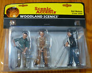 Woodland Scenics G Scale 2562 - Rail Workers - Scenic Accents 3 People