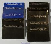 1970 Through 1979 Proof Sets - Lot Of 10 Sets