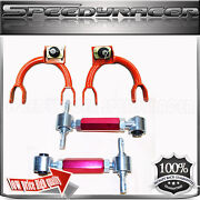 Front Upper Camber Arm+ Rear Camber Arm For 1988-1991 Honda Civic And Crx Red