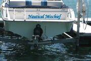 Custom Boat Name Decal Vinyl Lettering Sticker + 1 Shadow Color 4 X 24